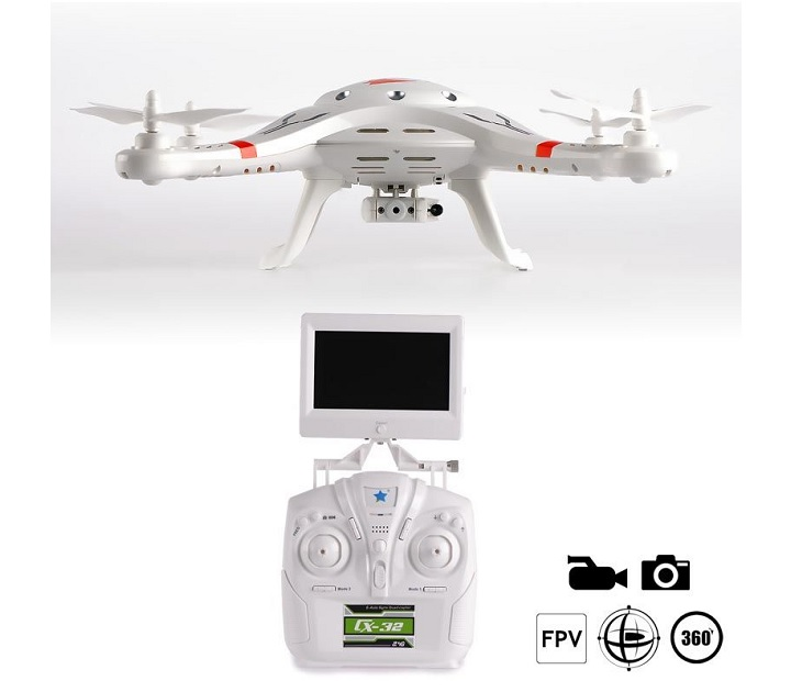 Quadcopter CX-32S με χειριστήριο και κάμερα 6-Axis / 5.8G FPV tηλεκατευθυνόμενα