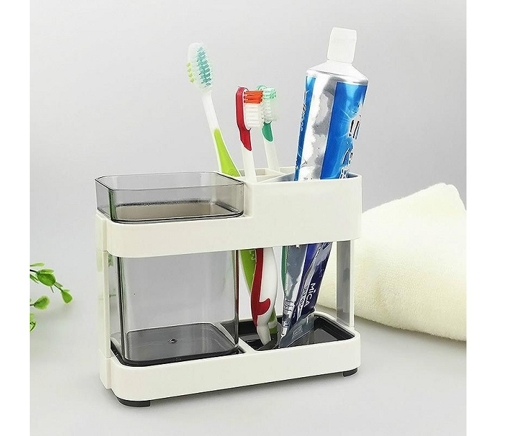 Βάση Μπάνιου με Θήκη για Οδοντόβουρτσες θήκες οδοντόβουρτσας