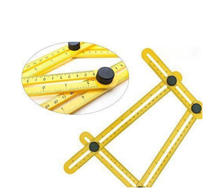 Γωνιακός χάρακας πολλαπλών γωνιών με μηχανισμό όργανα μέτρησης
