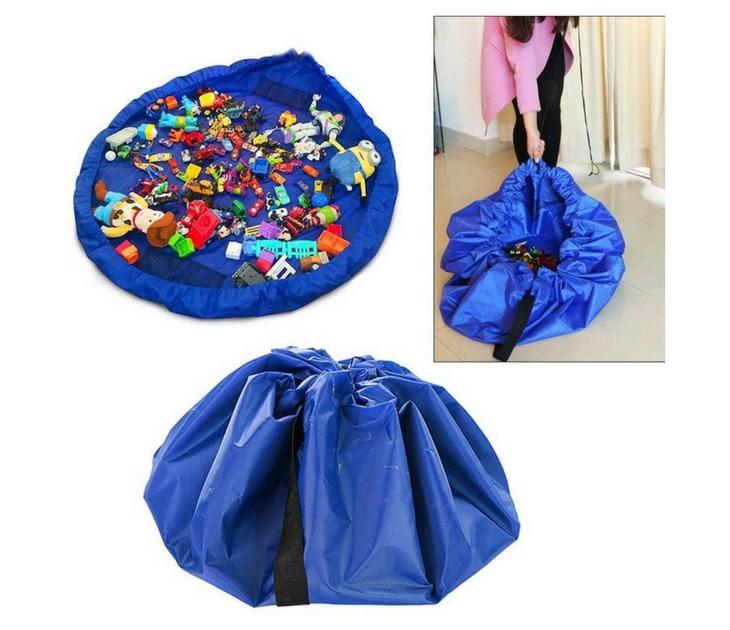 Παιδικό Χαλί Παιχνιδιού - Τσάντα Αποθήκευσης (Μπλε) eίδη αποθήκευσης