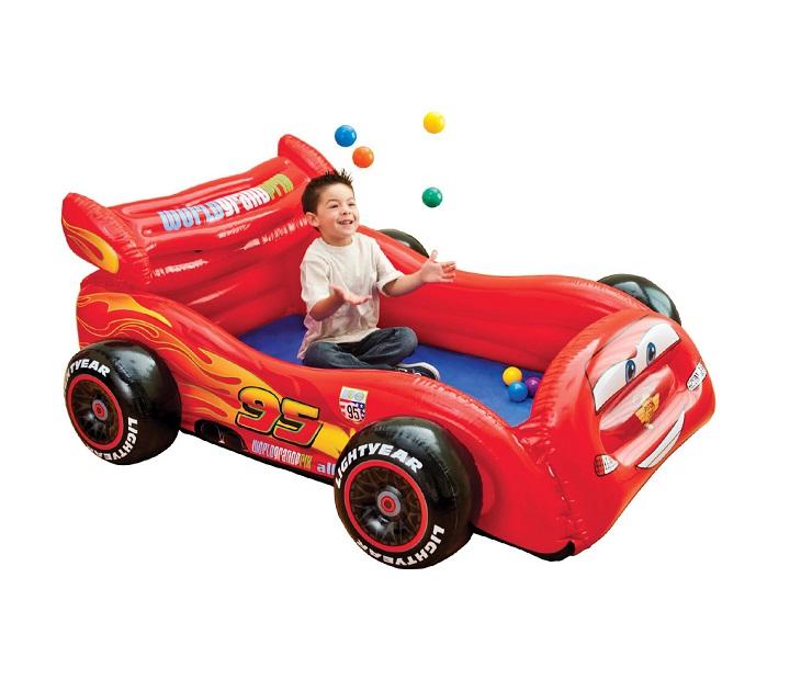 Φουσκωτό Πάρκο Αυτοκίνητο Disney Cars με 10 Μπάλες INTEX 48668