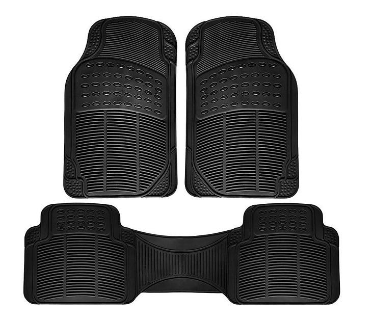 Αντιολισθητικά Πατάκια Αυτοκινήτου - 5 Θέσεων - Μαύρο Χρώμα
