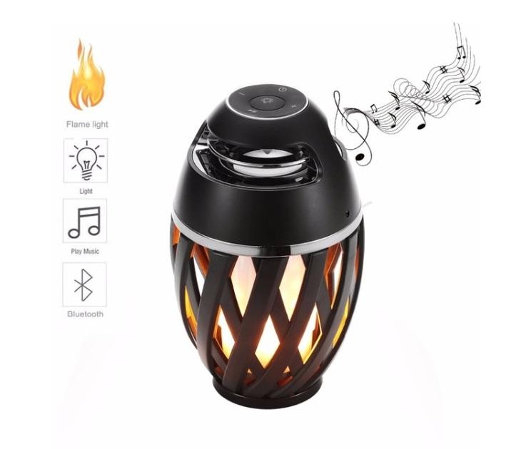 Ασύρματο Bluetooth/MP3 Ηχείο & Φωτιστικό με Εφέ Φλόγας smartphone   tablet gadget