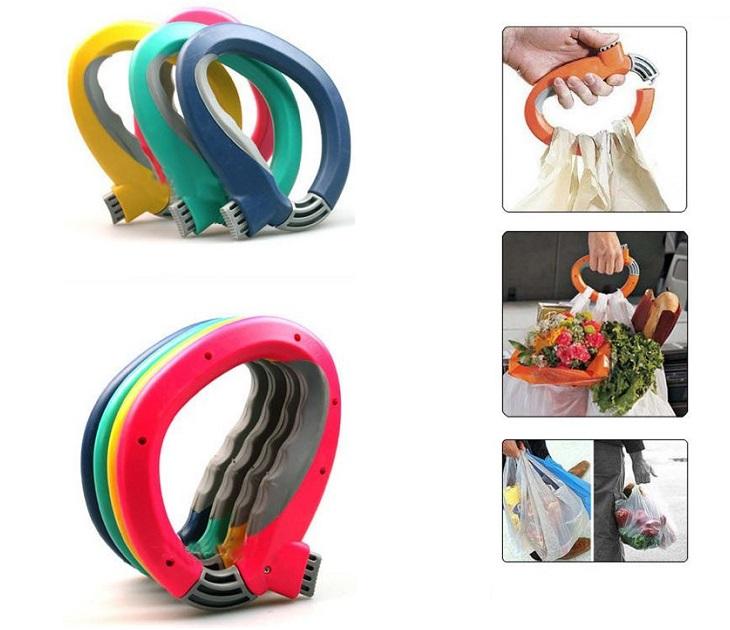 Ειδική Λαβή για Σακούλες - One Trip Grip (Ροζ) εργαλεία κουζίνας