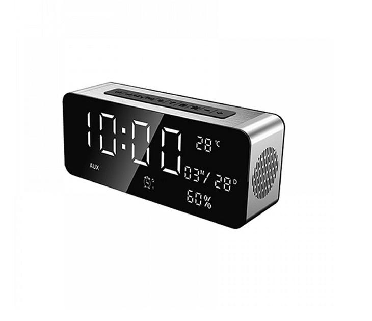 Επιτραπέζιο Ρολόι Multimedia Ηχείο Bluetooth με Ξυπνητήρι, USB/S