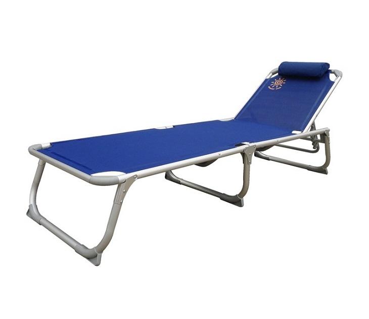Ξαπλώστρα Παραλίας Summer Club από Αλουμίνιο με Ribbed Textilene έπιπλα παραλίας