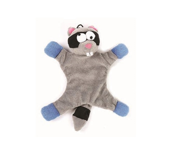 Λούτρινο Παιχνίδι για Σκύλους Happy Pet Freaky Flatliner Raccoon παιχνίδια σκύλου