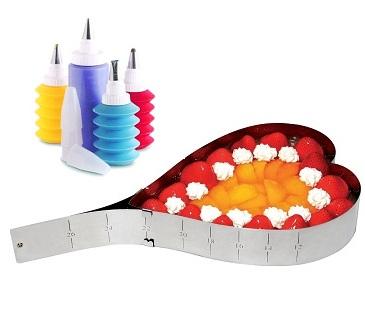 Σετ Τσέρκι Ζαχαροπλαστικής & 4 Δοχεία Διακόσμησης Veltihome σκεύη μαγειρικής