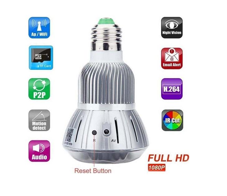 WiFi Ασύρματη IP Camera 1080P T-88 Λάμπα E27 ip κάμερες