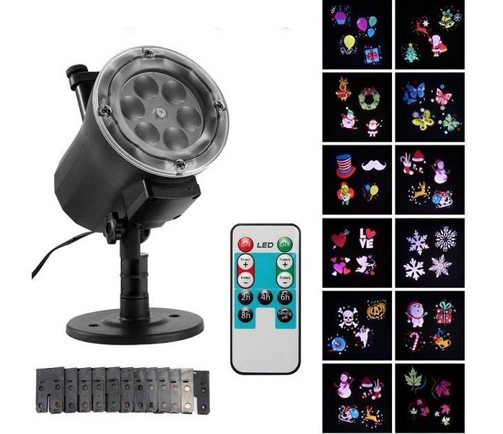 Γιορτινός Φωτισμός LED Με 12 Αποσπώμενα Πολύχρωμα Slides