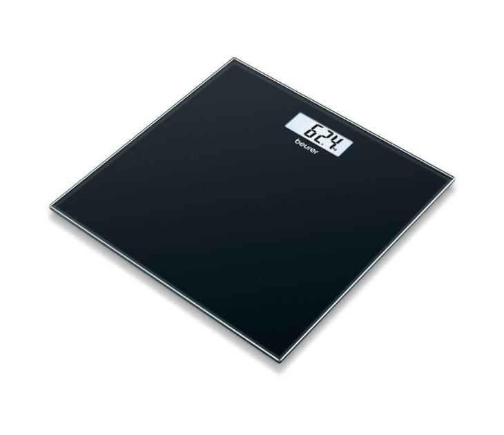 Γυάλινη Ζυγαριά Μπάνιου Beurer GS 10 Black (180Kg) ζυγαριές μπάνιου