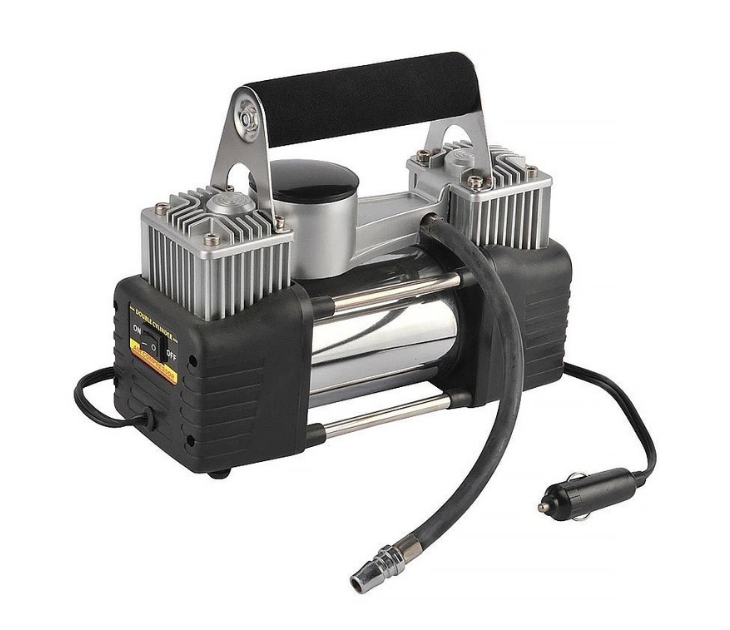 Ηλεκτρική Τρόμπα Αυτοκινήτου 2 Κυλίνδρων 12V/150PSI καθαρισμός   προστασία