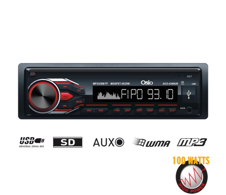 Ραδιόφωνο αυτοκινήτου με USB, SD & AUX-IN OSIO ACO-4369UR ηχοσυστήματα αυτοκινήτου