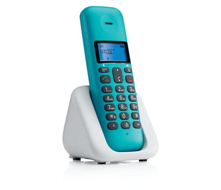 Ασύρματο Τηλέφωνο DECT με Ανοιχτή Ακρόαση MOTOROLA T301 TURQOISE