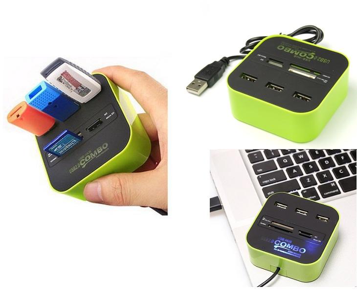 Φωτιζόμενο USB Hub & Card Reader Combo ΟΕΜ gadgets