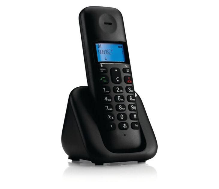 Ασύρματο Τηλέφωνο DECT με Ανοιχτή Ακρόαση MOTOROLA T301 Black