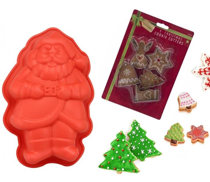 Φόρμα Σιλικόνης Άγιος Βασίλης & 5 Χριστουγεννιάτικα Κουπ-Πατ outlet