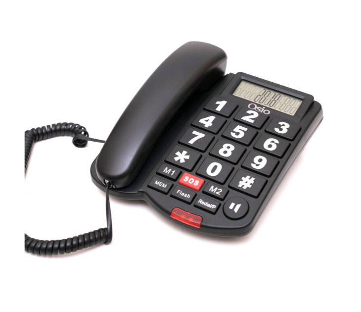 Ενσύρματο Τηλέφωνο με Μεγάλα Πλήκτρα & SOS OSIO OSWB-4760B