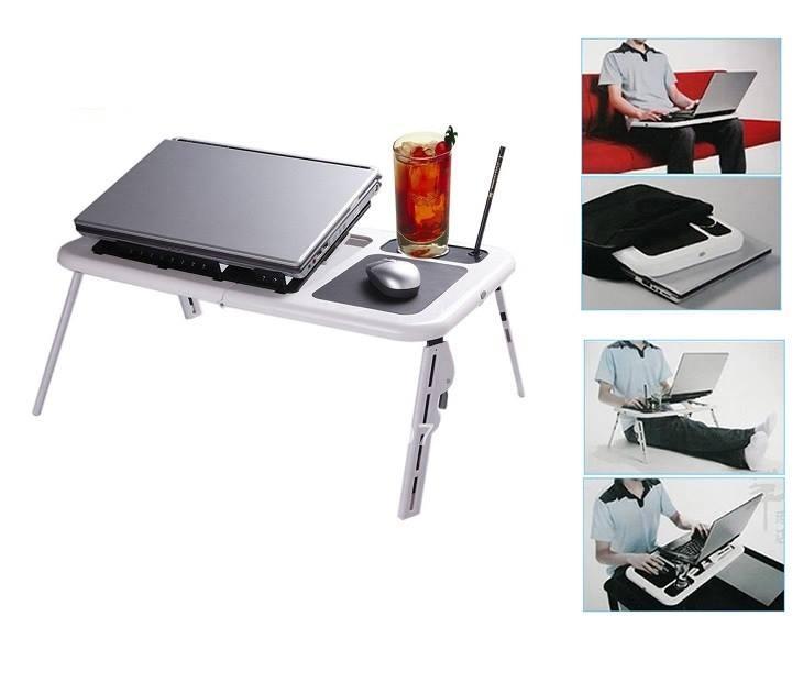 Τραπεζάκι Laptop με 2 Ανεμιστήρες Ψύξης E-table LD09 βάσεις laptop   tablet