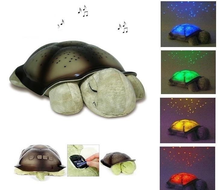 Φωτιστικό Χελωνάκι Turtle Night Sky Light με Μουσική ΟΕΜ gadgets