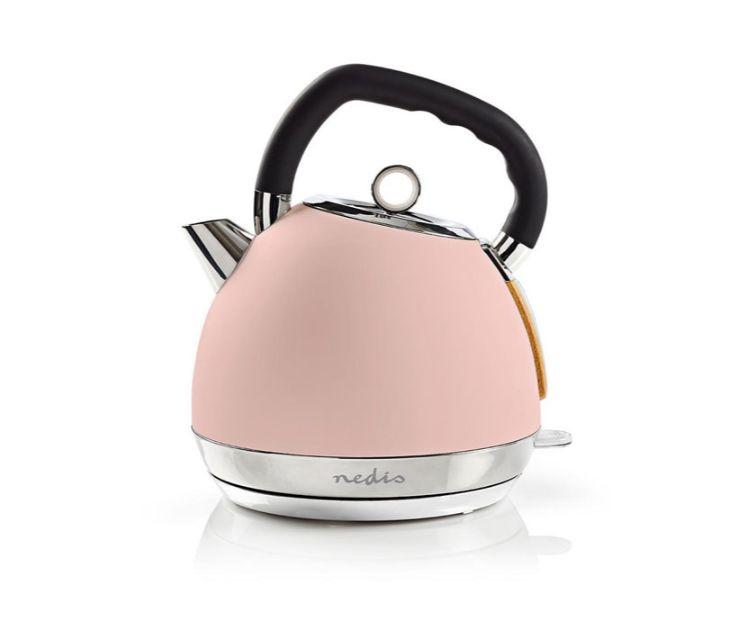 Βραστήρας 1.8L, σε Ροζ soft-touch Χρώμα, 2200W NEDIS KAWK520EPK