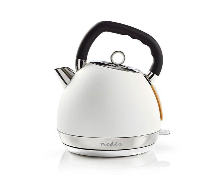 Βραστήρας 1.8L, σε Λευκό soft-touch Χρώμα, 2200W NEDIS KAWK520EWT