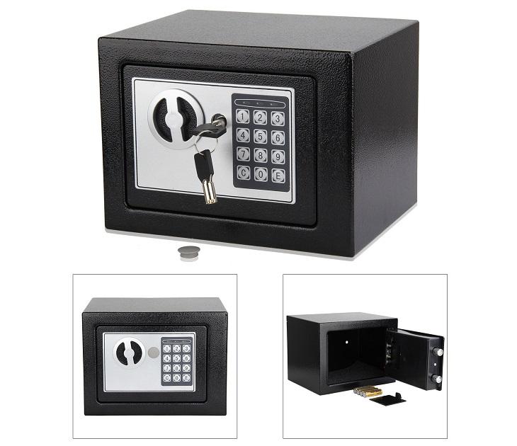 Χρηματοκιβώτιο Ασφαλείας με Ηλεκτρονική κλειδαριά & Κλειδί είδη σπιτιού