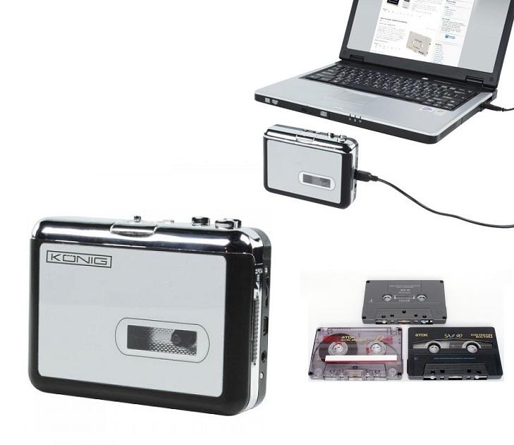 Ψηφιακός Μετατροπέας Κασέτας σε MP3 Konig HAV-CA 10 audio   video gadgets