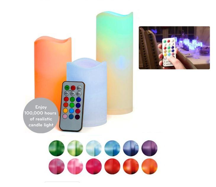 Σετ 3 Aληθινά Κεριά Led με Τηλεχειριστήριο & Αρωμα Βανίλιας OEM gadgets