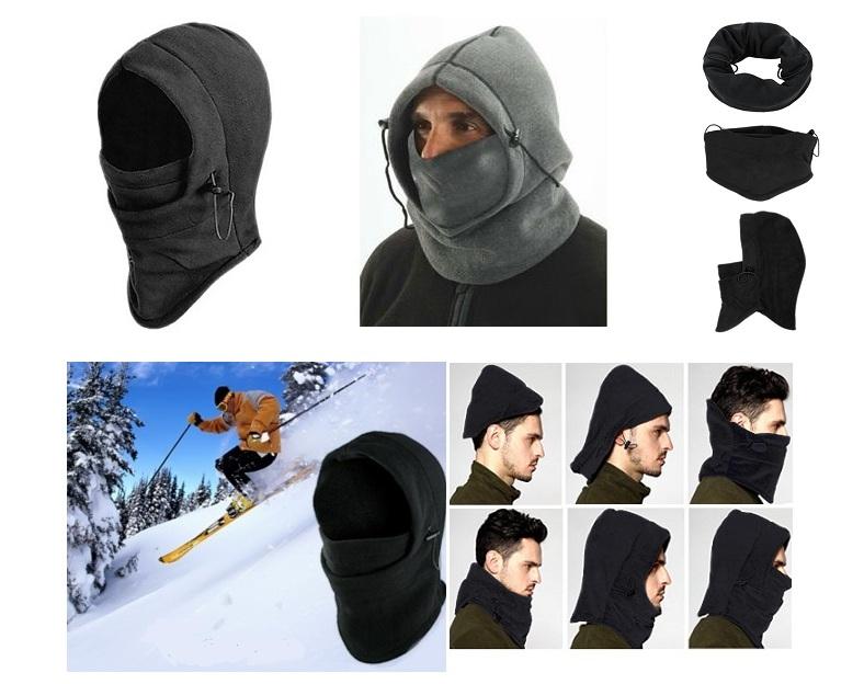 Ζεστή Κουκούλα Fleece 6 σε 1 για Sports, Μηχανή & το Κρύο ΟΕΜ gadgets