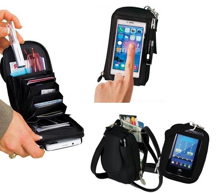 Τσαντάκι-Πορτοφόλι με Διάφανη Θήκη Οθόνης Αφής Smartphones OEΜ gadgets