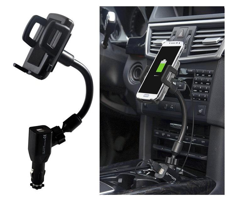 Βάση Κινητού για τον Αναπτήρα του Αυτοκίνητου με 2 θύρες USB OEM gadgets