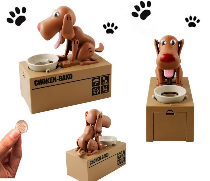 """Έξυπνος Κουμπαράς Σκυλάκι που """"Τρώει"""" τα Κέρματα ΟΕΜ gadgets"""