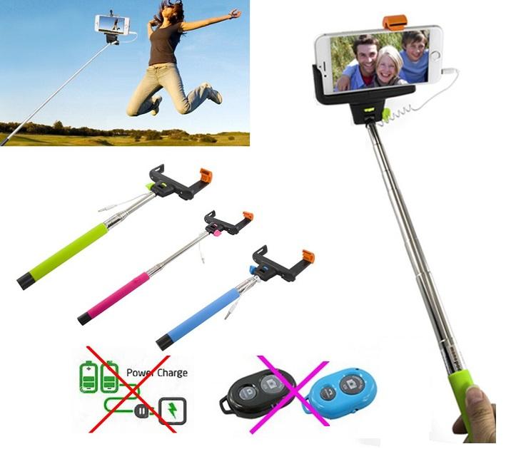 Πτυσόμενο Μονόποδο με Καλώδιο για Selfies Φωτογραφίες ΟΕΜ gadgets