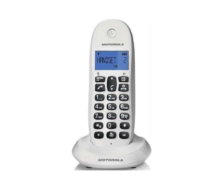 Ασύρματο Τηλέφωνο Motorola C1001LB (Λευκό) τηλεφωνία