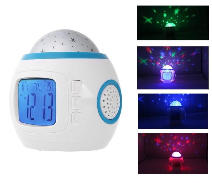 Μουσικό Ρολόι με Προτζέκτορα Αστεριών, Θερμόμετρο OΕM audio   video gadgets