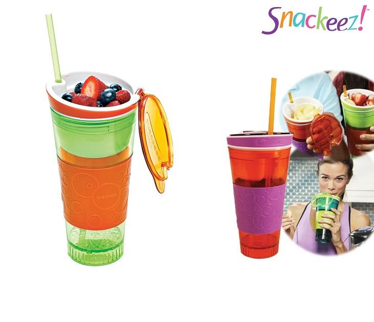 Ποτό & Snack Μαζί Σε Ένα Ποτήρι Snackeez