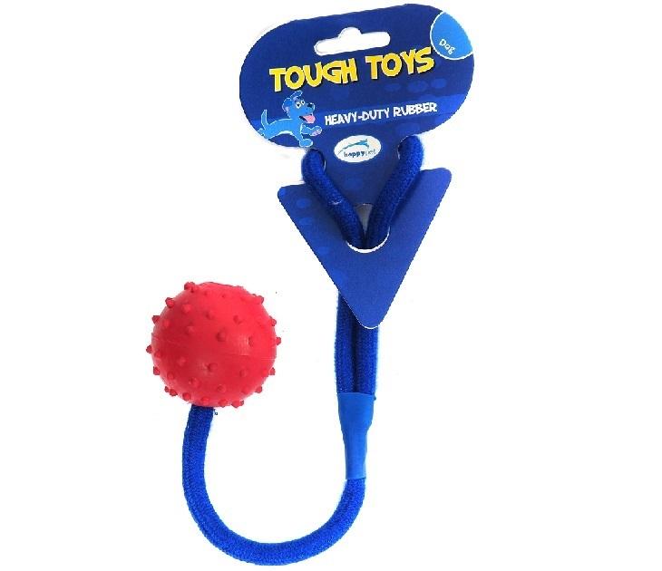 Παιχνίδι Σκύλου Studded Rope Ball Happy Pet παιχνίδια σκύλου