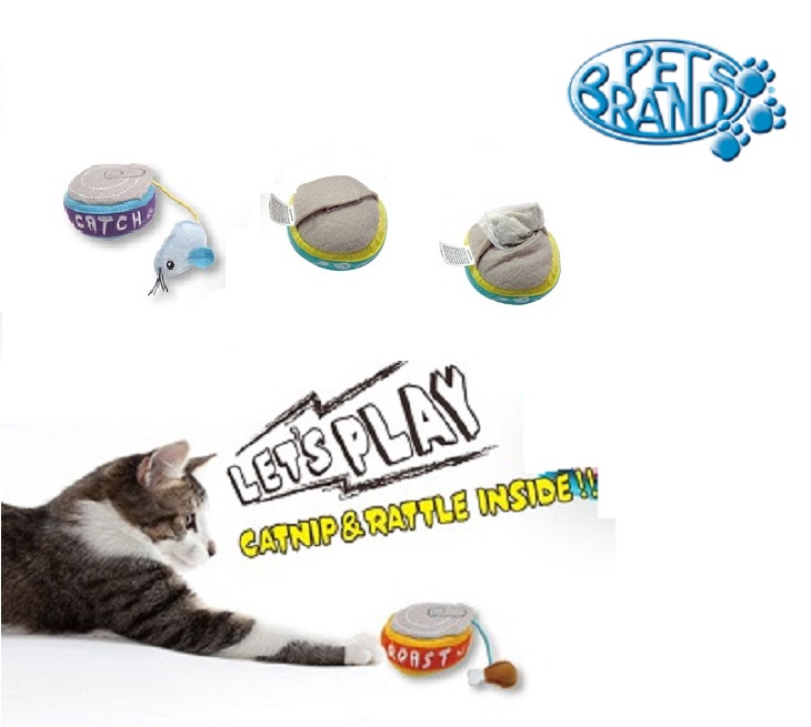 Παιχνιδάκι Γάτας Σε Σχήμα Κονσέρβας Με Μέντα & Κουδουνάκι kατοικίδια