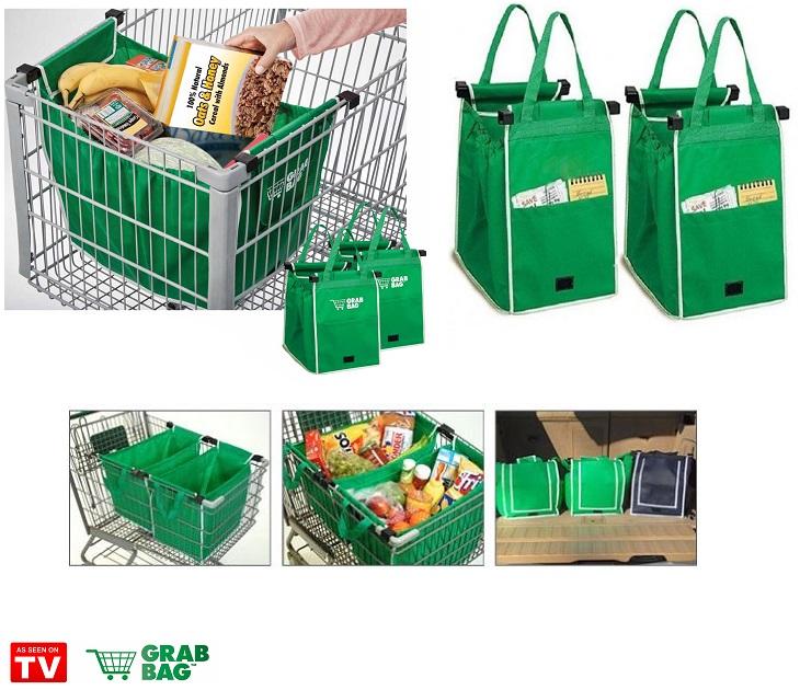 Οικολογικές Τσάντες για Ψώνια Επαναλαμβανόμενης Χρήσης- Σετ 2τμχ είδη σπιτιού