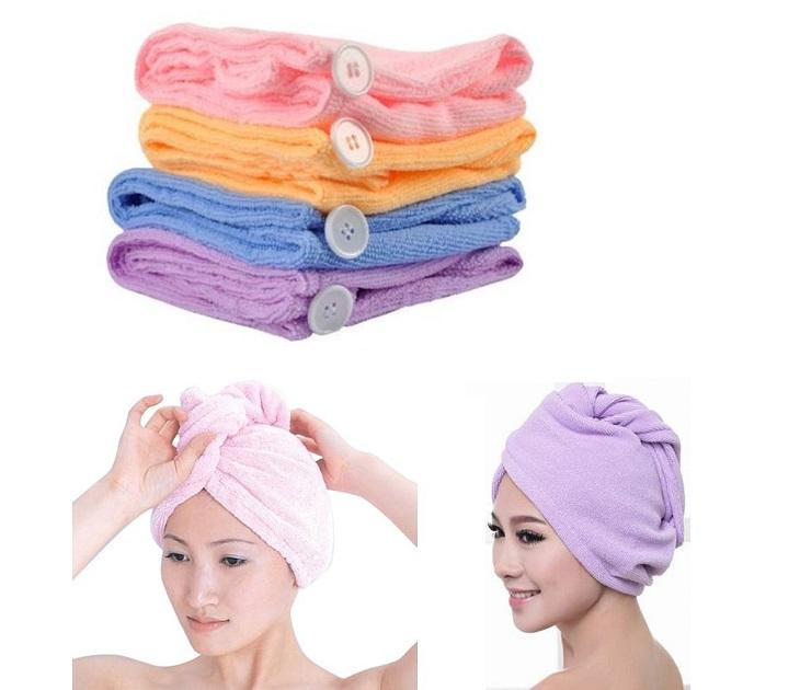 Σετ 2 Πετσέτες για Στέγνωμα Μαλλιών - Hair Wrap ΟΕΜ διάφορα αξεσουάρ μπάνιου