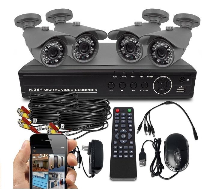 Σετ εποπτείας με 4 Κάμερες & Καταγραφικό CCTV Security OEM συστήματα ασφαλείας