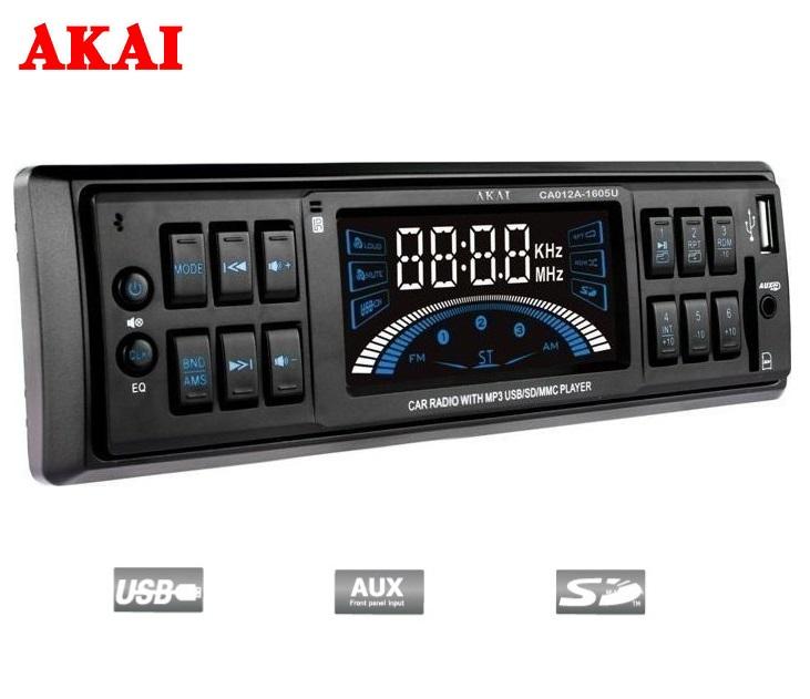 Ράδιο/USB/SD Card Aυτοκινήτου ΑKAI CA012A-1605U ήχος   εικόνα