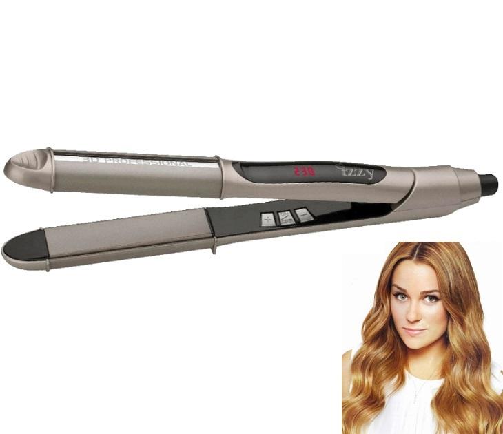 Κεραμική Συσκευή για Ίσιωμα & Μπούκλες με Argan Oil L112 3D Izzy ισιωτικά μαλλιών