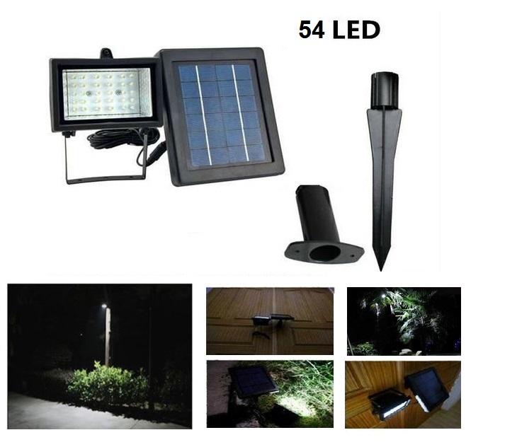 Αυτόνομος Ηλιακός Προβολέας με 54 Led & Πάνελ 2,5 Watt ΟΕΜ ηλεκτρολογικός εξοπλισμός