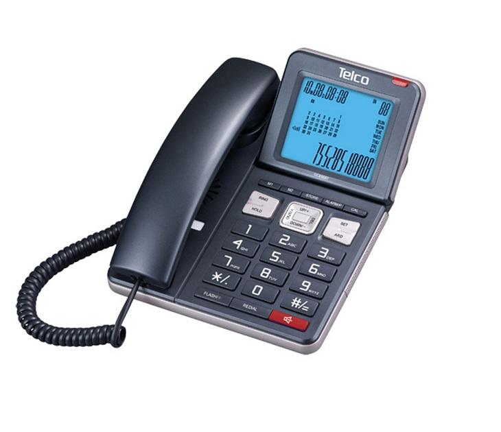 Ενσύρματο Τηλέφωνο με Ανακλινόμενη Οθόνη Telco GCE 6087 τηλεφωνία