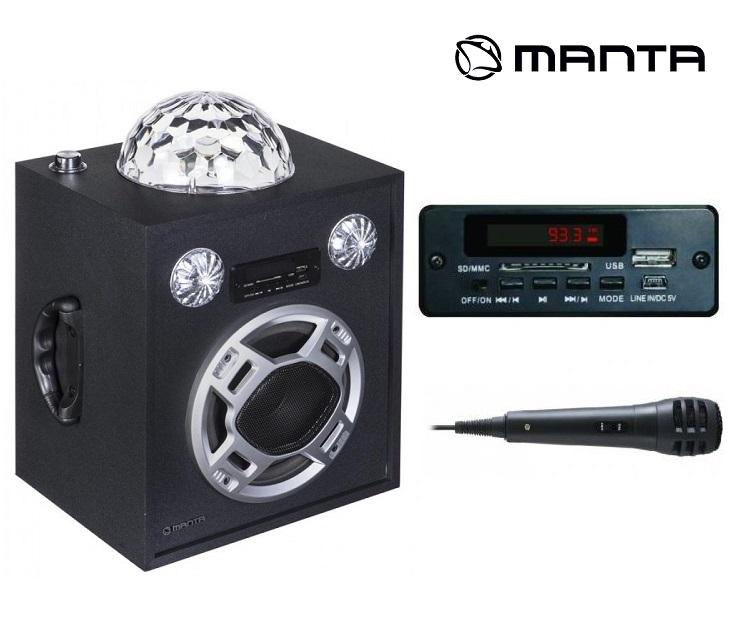 Ηχείο με Disco Μπάλα FM/AUX/SD/USB & Κaraoke Μanta SPK205KR