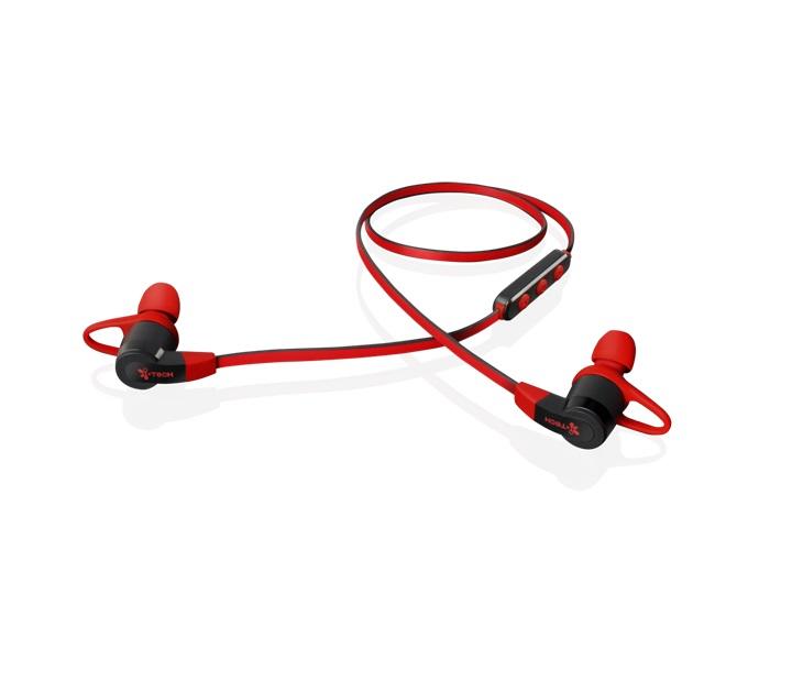 Ακουστικά Bluetooth i-Tech Musicband 6300 (Κόκκινα - Μαύρα)