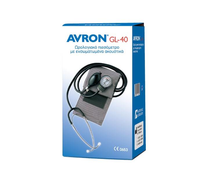 Κλασικό Ωρολογιακό Πιεσόμετρο Avron GL-40 Με Ακουστικά