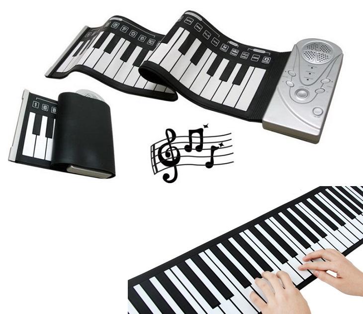 Φορητό Ευλύγιστο Πιάνο Αφής Με 49 Πλήκτρα OEM